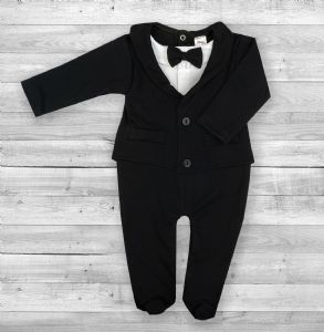 Baby Boy Black All-in-One Suit